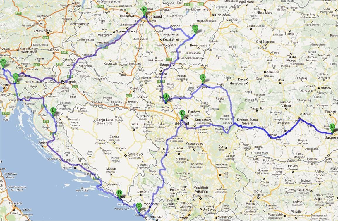traseu toamna Balcaniada