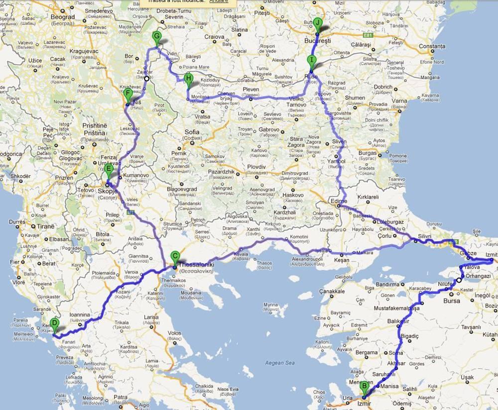 traseu vara Balcaniada
